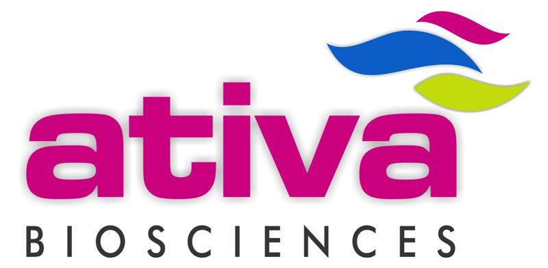 Ativa Biosciences logo on yellow page views